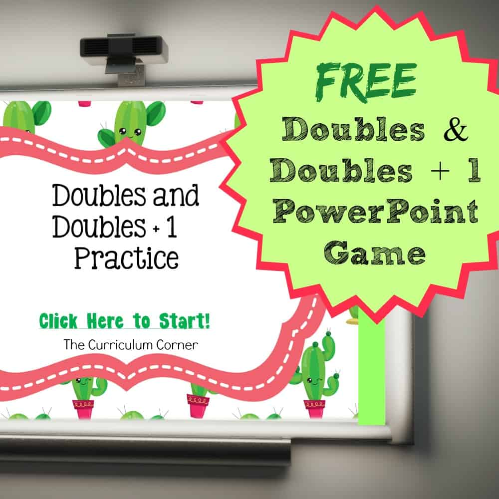 FREE Doubles and Doubles + 1 PowerPoint Game | Doubles Facts | The Curriculum Corner 2