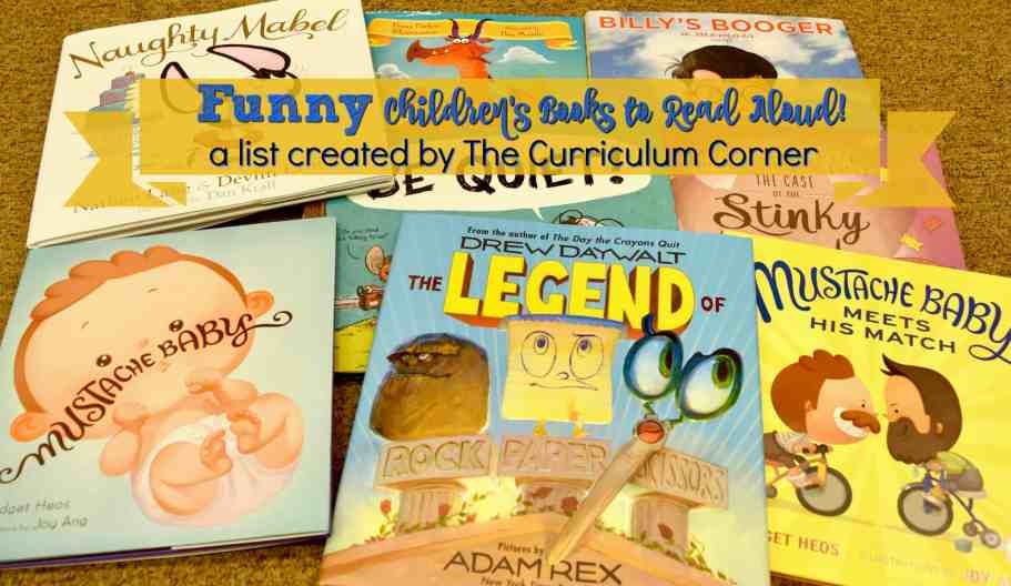 Funny Read Alouds - a list created by The Curriculum Corner
