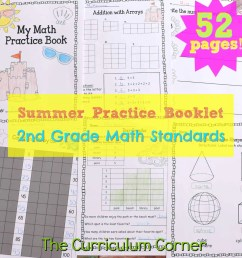 2nd Grade Standards Summer Math Practice - The Curriculum Corner 123 [ 1792 x 1792 Pixel ]