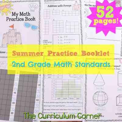 2nd Grade Standards Summer Math Practice