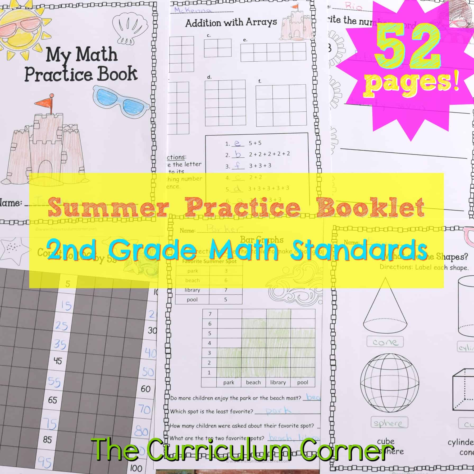 hight resolution of 2nd Grade Standards Summer Math Practice - The Curriculum Corner 123