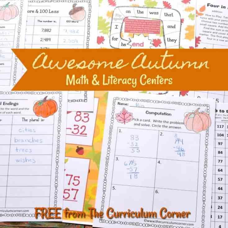 Awesome Autumn Math & Literacy