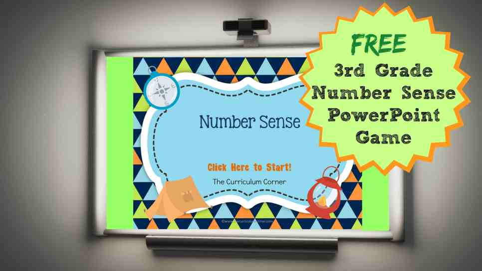 number sense PowerPoint from The Curriculum Corner