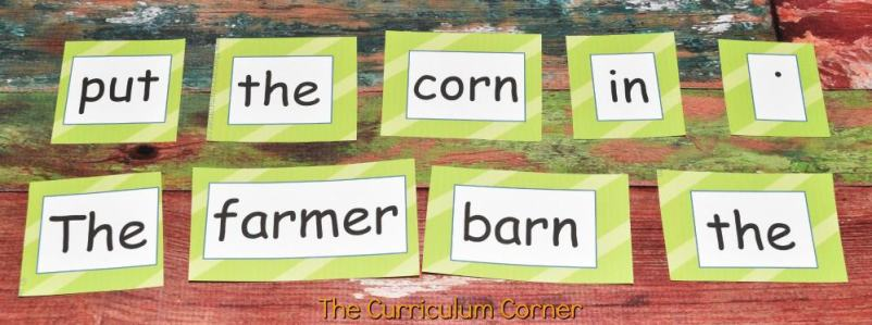 FREE Fall Literacy Pack from The Curriculum Corner | Word Work | Fluency Sentences | Write the Room & more 3