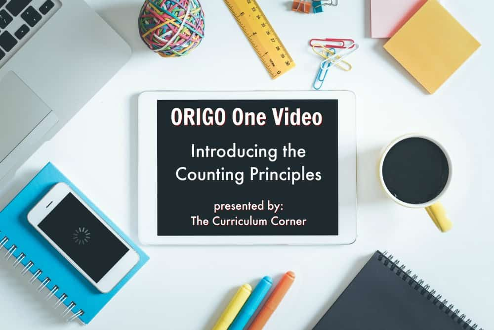 Introducing Counting Principles - ORIGO One Minute Math video presented by The Curriculum Corner. New teaching insights in one minute!