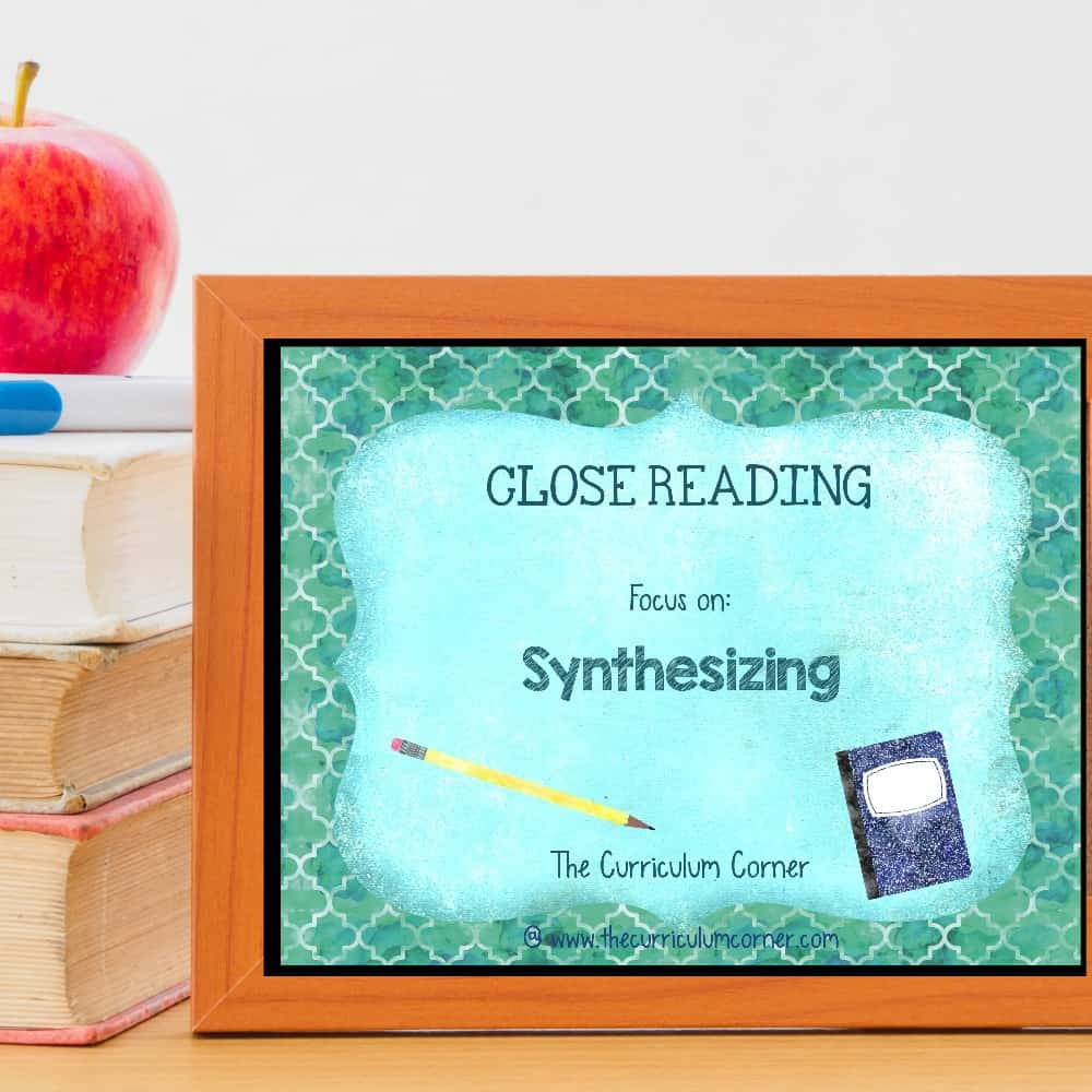 small resolution of Synthesizing Informational Text - The Curriculum Corner 123