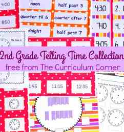 Telling Time - 2nd Grade - The Curriculum Corner 123 [ 1000 x 1000 Pixel ]
