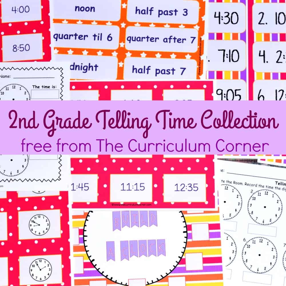hight resolution of Telling Time - 2nd Grade - The Curriculum Corner 123