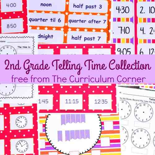 small resolution of Telling Time - 2nd Grade - The Curriculum Corner 123
