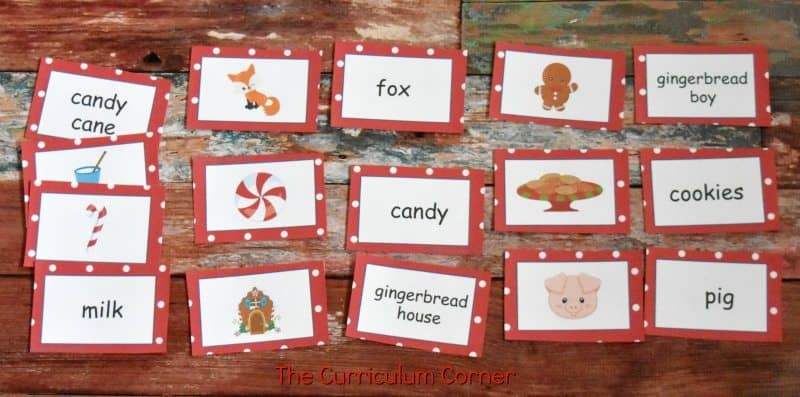 FREE Gingerbread Literacy Centers from The Curriculum Corner 3