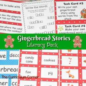 FREE Gingerbread Literacy Centers from The Curriculum Corner 10