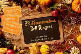 FREE November Bell Ringers free from The Curriculum Corner