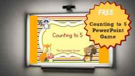 FREE PowerPoint game for counting to 5 from The Curriculum Corner
