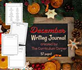 This December writing journal is designed for your primary classroom. Use the pages to create journals or for December writing prompts.