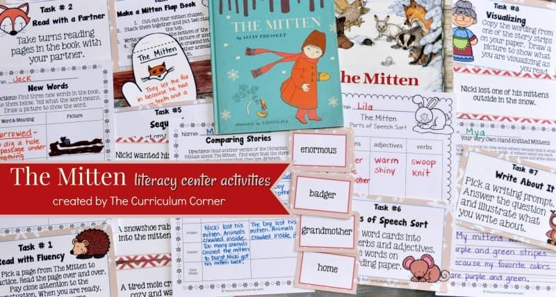 This resource is designed to accompany Jan Brett's The Mitten based on the favorite Ukrainian folktale. FREE literacy center activities.