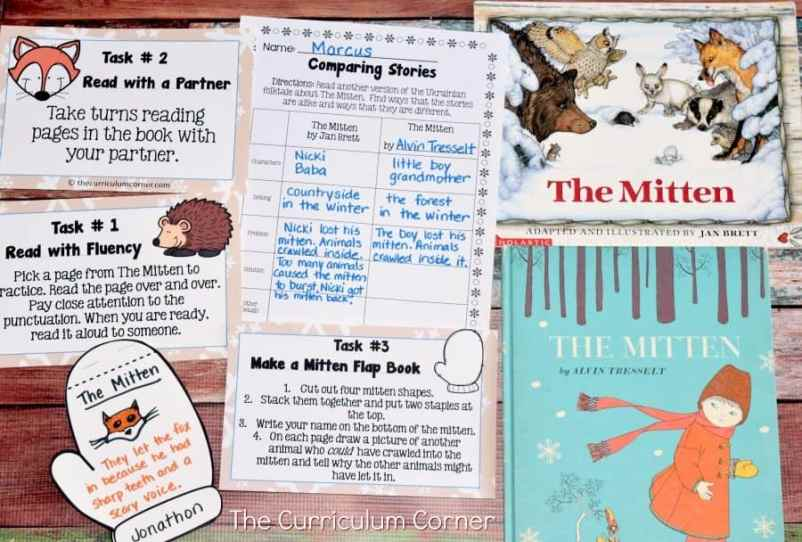 The MItten FREE literacy center activities from The Curriculum Corner 2