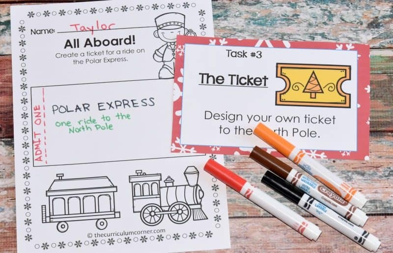 FREE The Polar Express Literacy Center Activities 2