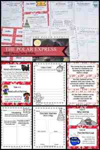 FREE The Polar Express Literacy Center Activities