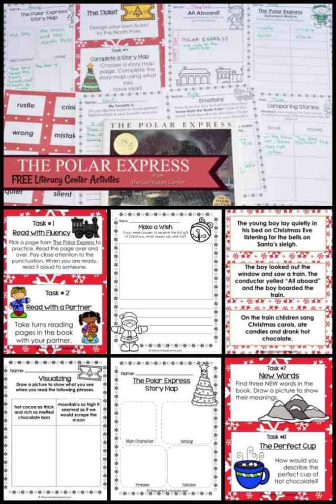 FREE The Polar Express Literacy Center Activities