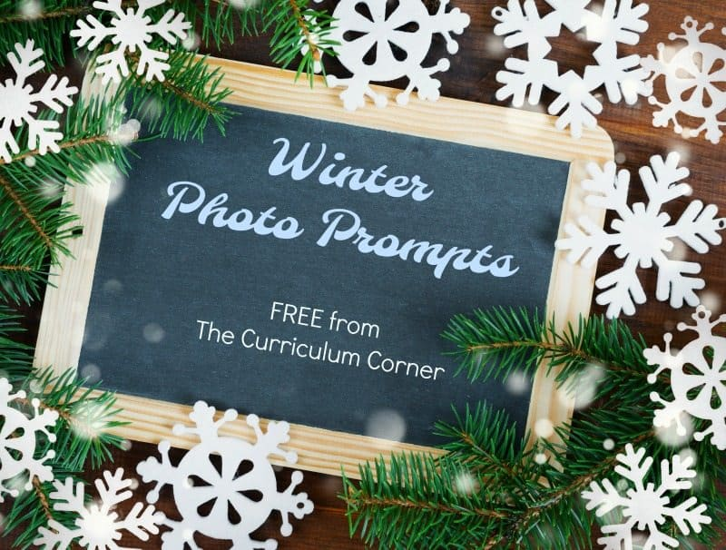 We have assembled a collection of 10 winter photo prompts for writing with word banks. FREE from The Curriculum Corner for your writing workshop.
