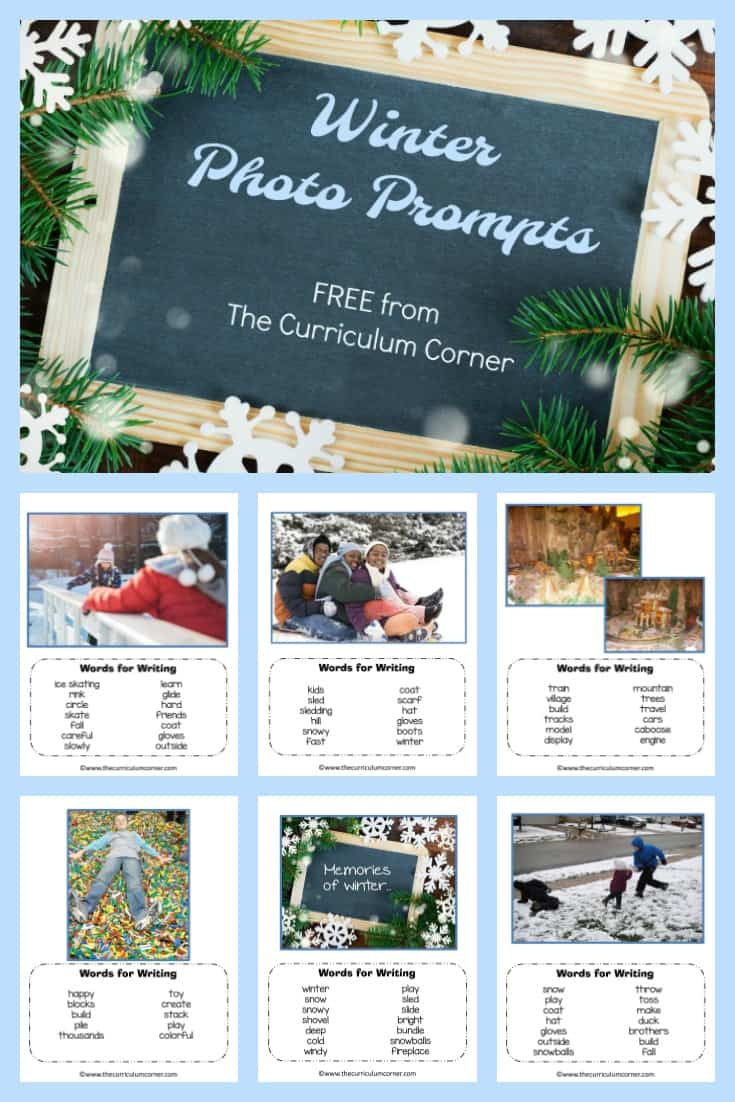 FREE Winter Photo Prompts for Writing from The Curriculum Corner