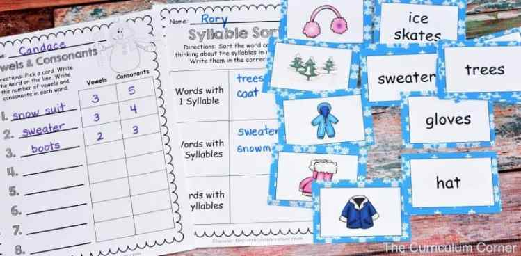 Winter Word Work FREEBIES from The Curriculum Corner