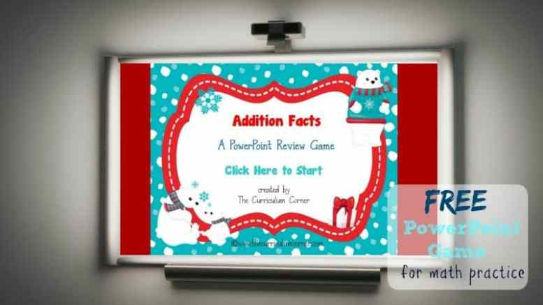 Use this winter addition facts game for PowerPoint to give your students practice with recalling basic facts. Designed with a winter polar bear theme.