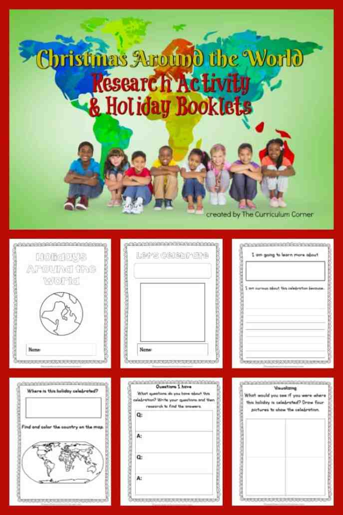 Christmas Around the World FREE Research Activity & Booklets