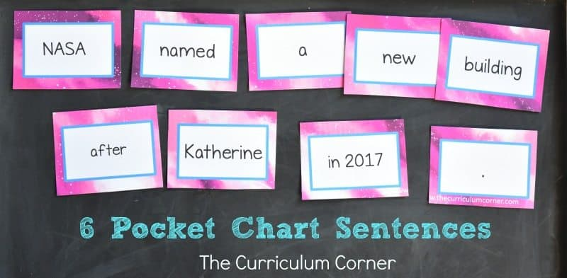 FREE Katherine Johnson Book Study Resources from The Curriculum Corner 4