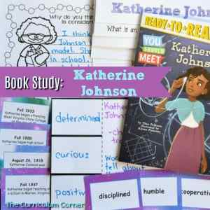 FREE Katherine Johnson Book Study Resources from The Curriculum Corner