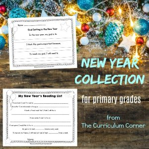 FREE New Year Classroom Activities from The Curriculum Corner