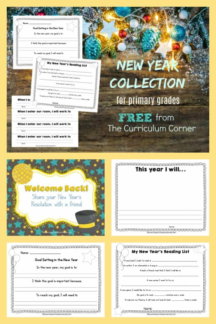 FREE New Year Classroom Activities from The Curriculum Corner 2