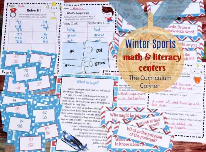 These winter sports games printables are meant to be an engaging way for your students to practice math & literacy skills with a seasonal focus.