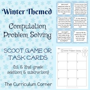 FREE Winter Themed Computation Problem Solving from The Curriculum Corner