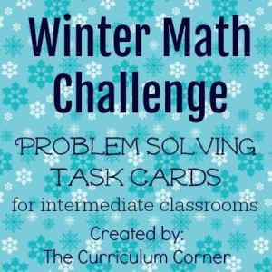 FREE Winter Math Challenge Problem Solving Task Cards from The Curriculum Corner