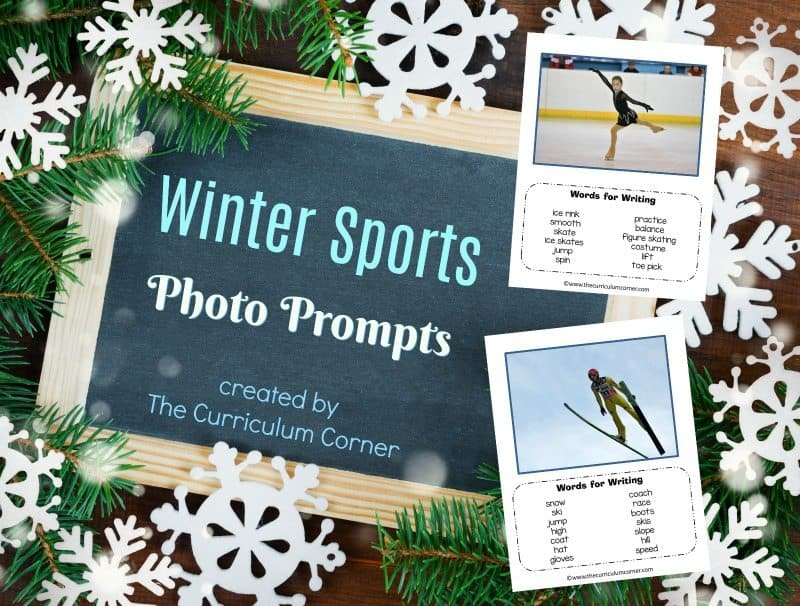 We have assembled a collection of 8 winter sports photo prompts for writing with word banks. We hope you love this free resource for teachers!