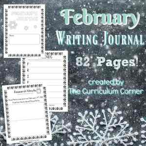 FREE February Writing Journal from The Curriculum Corner 2