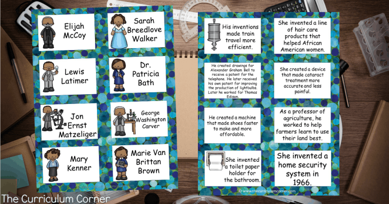 African American Inventors FREE Informational Text Resources from The Curriculum Corner 3