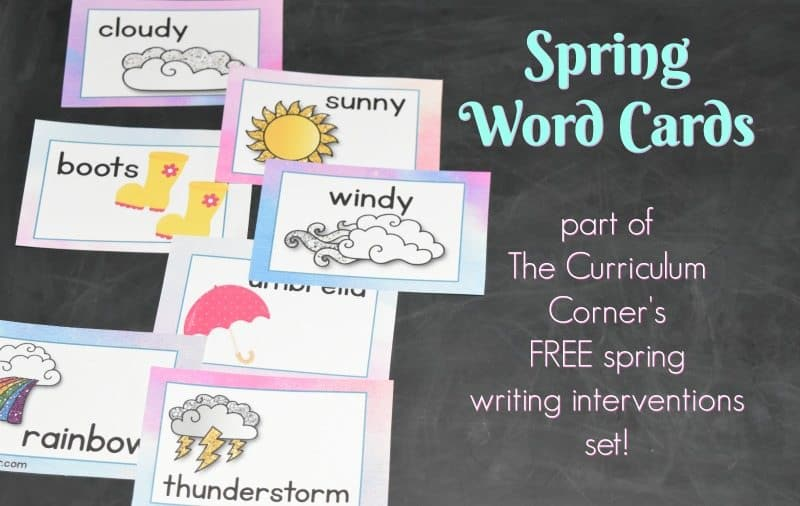 FREE Spring Writing Interventions from The Curriculum Corner