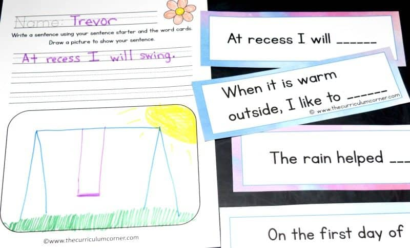 FREE Spring Writing Interventions from The Curriculum Corner 2