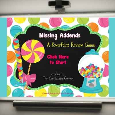Candy Missing Addends PowerPoint Game