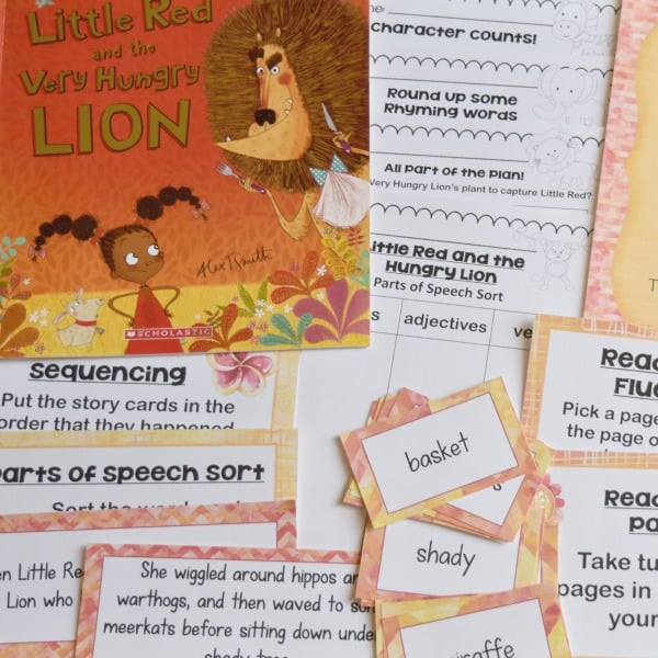 Little Red and the Very Hungry Lion Literature Centers