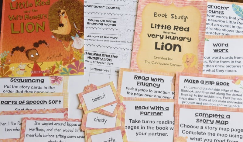 Little Red and the Very Hungry Lion: A Book Study A free literacy center set created by The Curriculum Corner