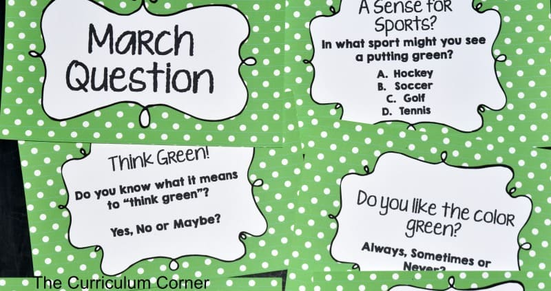 FREE March Bell RIngers from The Curriculum Corner 2