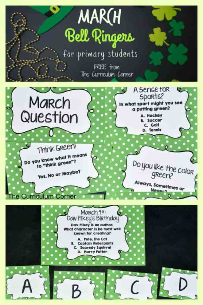 FREE March Bell RIngers from The Curriculum Corner 4