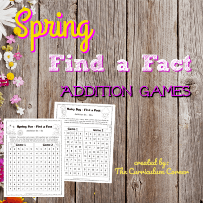 Spring Find a Fact Addition