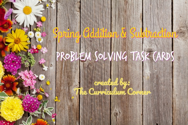 These spring problem solving task cards are word problems geared towards 1st and 2nd grade students.