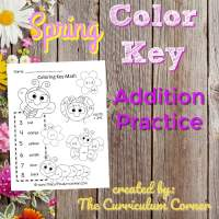 Spring Color Key Addition Practice