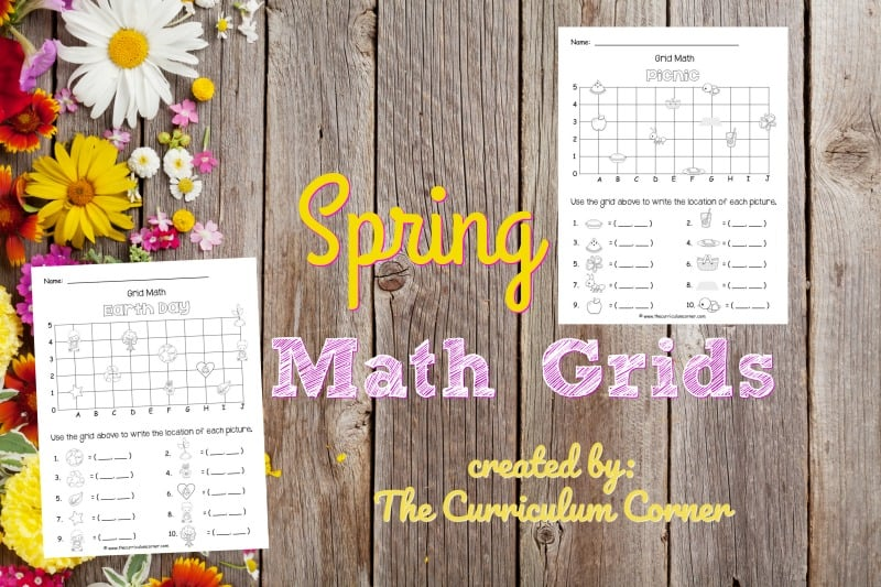 These spring math grids have been created as an engaging, free printable math activity for your classroom (coordinate grids.)