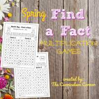 Spring Find a Fact Games (Multiplication)